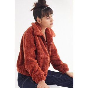 Urban Outfitters Cropped Teddy Bear Jacket